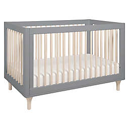 Babyletto Lolly 3-in-1 Convertible Crib in Grey/Washed Natural