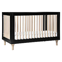 Babyletto Lolly 3-in-1 Convertible Crib in Black/Natural