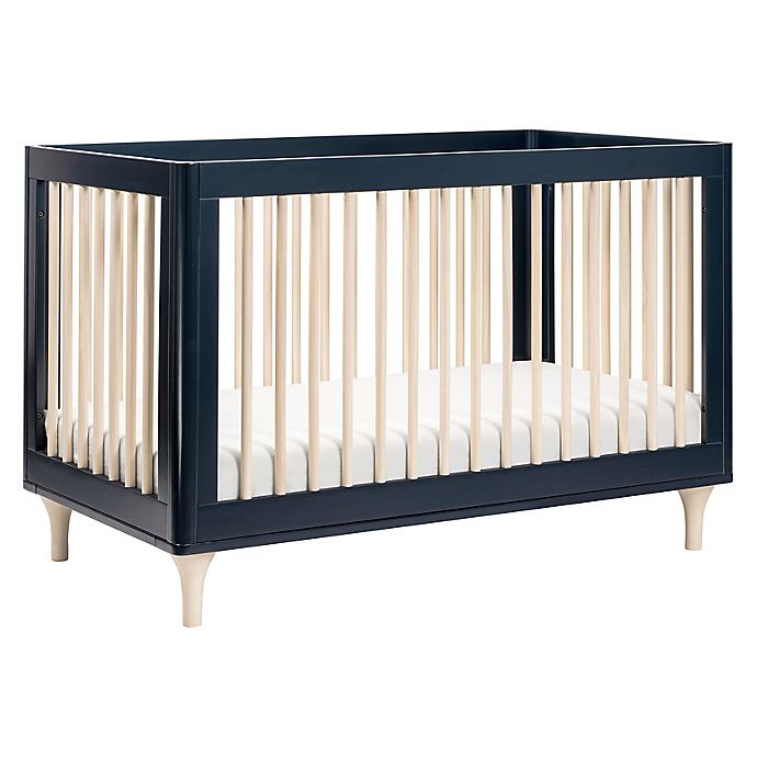 Alternate image 1 for Babyletto Lolly 3-in-1 Convertible Crib in Navy/Washed Natural