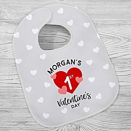 First Valentine's Day Baby Bib