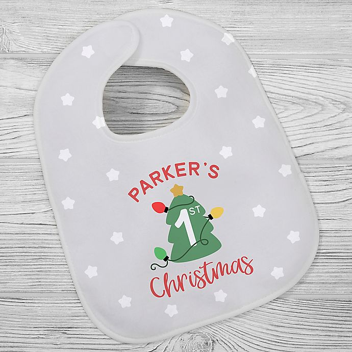 Alternate image 1 for First Christmas Baby Bib