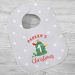First Christmas Baby Bib