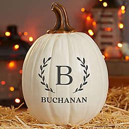 Laurel Resin Pumpkin Decoration in Cream