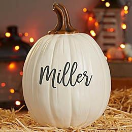 Boo Spooky Welcome Pumpkin Decoration in Cream