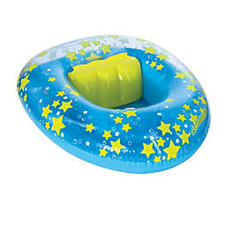SwimSchool® Stars BabyBoat® with Backrest in Blue/Yellow