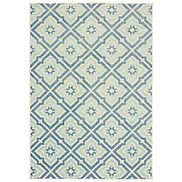 Cabana Bay Bantry Buena Vista Indoor/Outdoor Rug in Blue