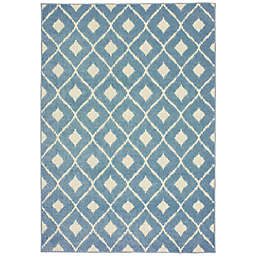 Cabana Bay Bantry Fresno Indoor/Outdoor Rug in Blue
