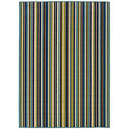 Cabana Bay Cannon Lorna Indoor/Outdoor Rug in Blue