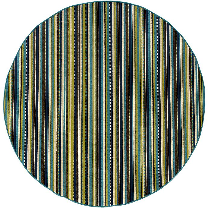 Alternate image 1 for Cabana Bay Cannon Lorna 7'10 Round Indoor/Outdoor Area Rug in Blue