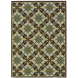 Cabana Bay Cannon Savannah Indoor/Outdoor Rug in Brown