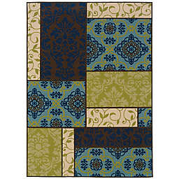 Cabana Bay Cannon Napa Indoor/Outdoor Rug in Brown