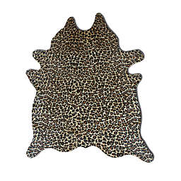 Natural Rugs Togo Cowhide 6-Foot x 7-Foot Area Rug in Leopard