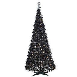 6-Foot Pine Pre-Lit Popup Artificial Christmas Tree in Black