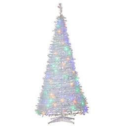 6-Foot Pine Pre-Lit Popup Artificial Christmas Tree in White