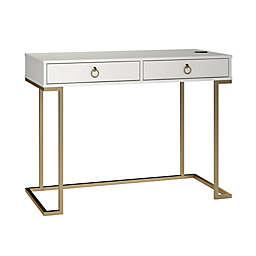 Ameriwood Home Hailey Writing Desk in White