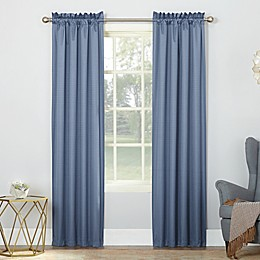 Sun Zero Riku Thermal Insulated Room Darkening Rod Pocket Window Curtain Panel Pair