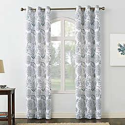 No. 918 Yuto Medallion Floral Semi-Sheer Grommet Window Curtain Panel (Single)