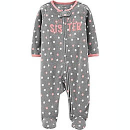 carter's® Sister Fleece Sleep 'N Play in Grey
