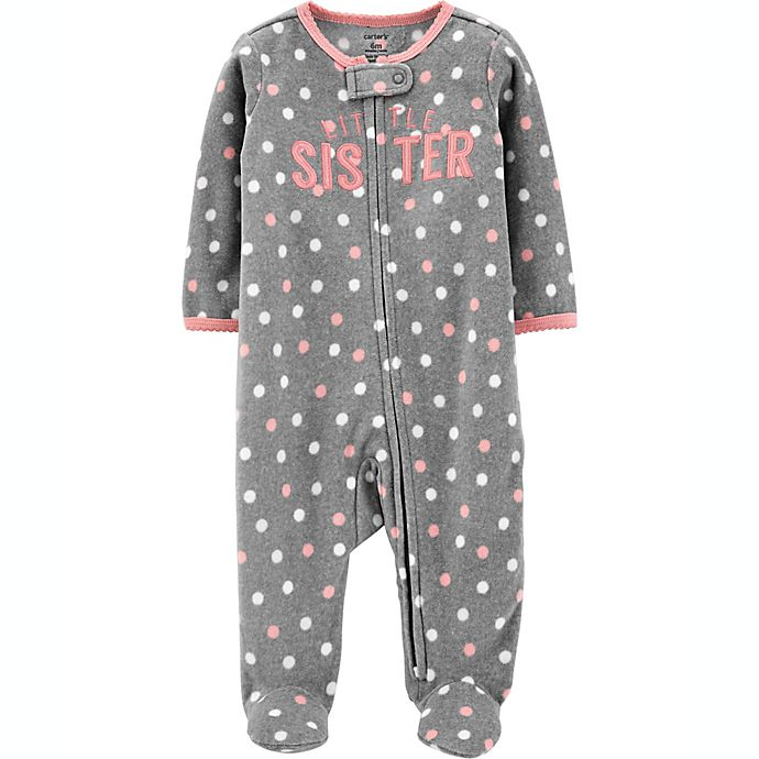 Alternate image 1 for carter's® Size 6M Sister Fleece Sleep 'N Play in Grey