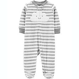 carter's® Cloud Microfleece Snap-Up Sleep & Play Footie in Grey