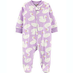 carter's® Newborn Swan Fleece Sleep 'N Play in Purple