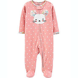 carter's® Size 3M Mouse Fleece Sleep 'N Play in Pink