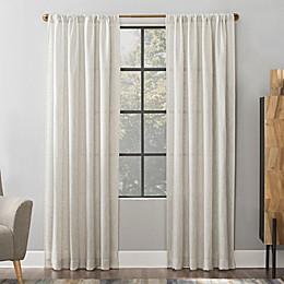 Scott Living Wallis Crosshatch Slub Textured Linen Blend Sheer Rod Pocket Window Curtain Panel