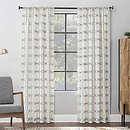 Scott Living™ Certo Geometric Embroidery Rod Pocket Window Curtain Panel