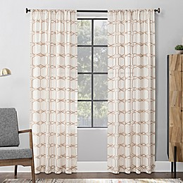 Scott Living™ Certo Geometric Embroidery Rod Pocket Window Curtain Panel