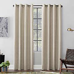 Scott Living Elkay Woven Geometric Pattern Total Blackout Grommet Window Curtain