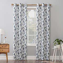 No.918® Emiko Vintage Scroll Floral 84-Inch Grommet Window Curtain Panel in Lavender