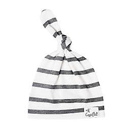 Copper Pearl™ Size 5-18M City Top Knot Hat in White/Black