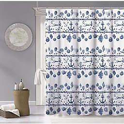 Dainty Home Marine 70-Inch x 70-Inch Shower Curtain