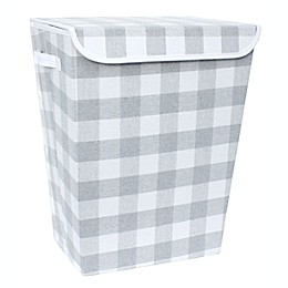 Taylor Madison Designs® Buffalo Check Lidded Rectangular Hamper in Grey/White