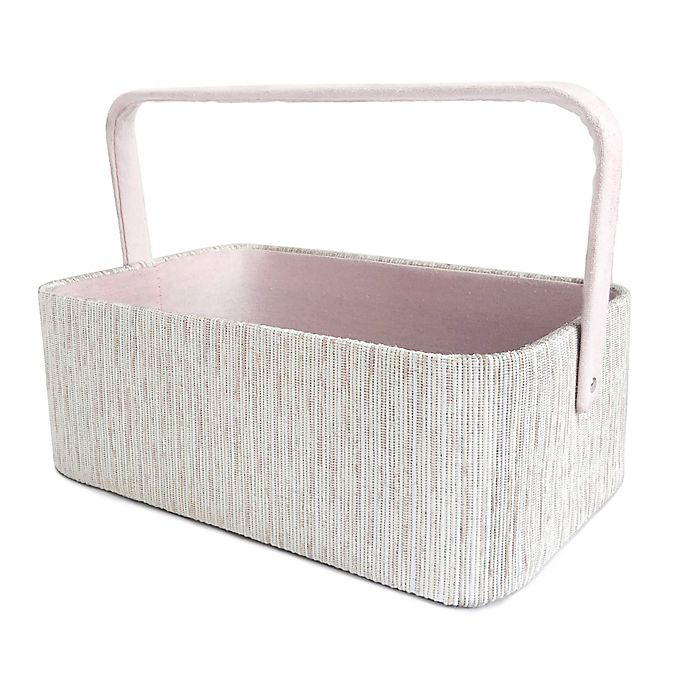 Alternate image 1 for Taylor Madison Designs® Silver Ombré Diaper Caddy in Pink/Silver