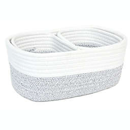 Taylor Madison Designs® Rope Storage Baskets in Natural White/Grey (Set of 3)