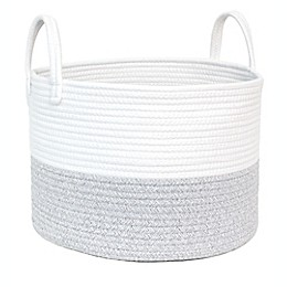 Taylor Madison Designs® Round Rope Basket in Grey/White