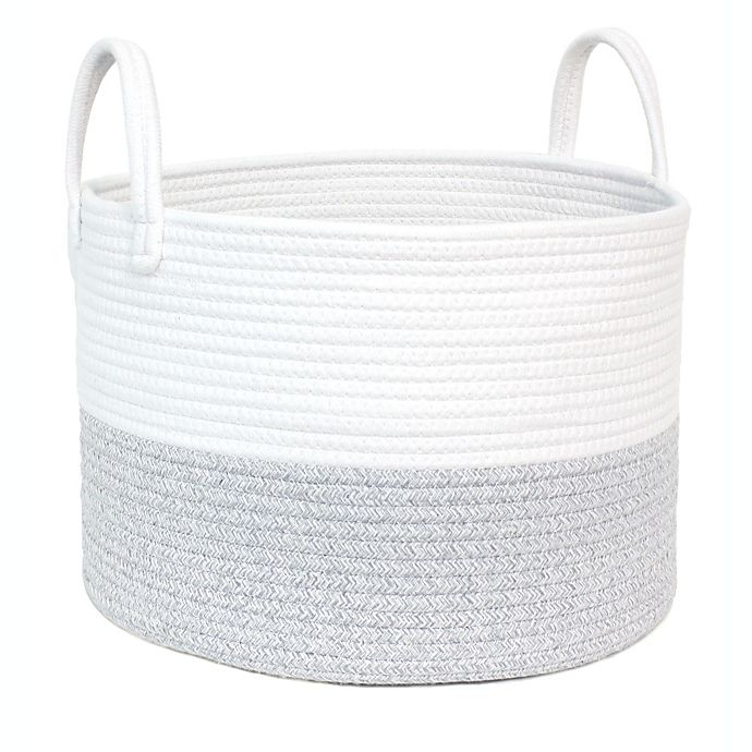 Alternate image 1 for Taylor Madison Designs® Round Rope Basket in Grey/White