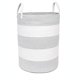 Taylor Madison Designs® Round Rope Striped Hamper