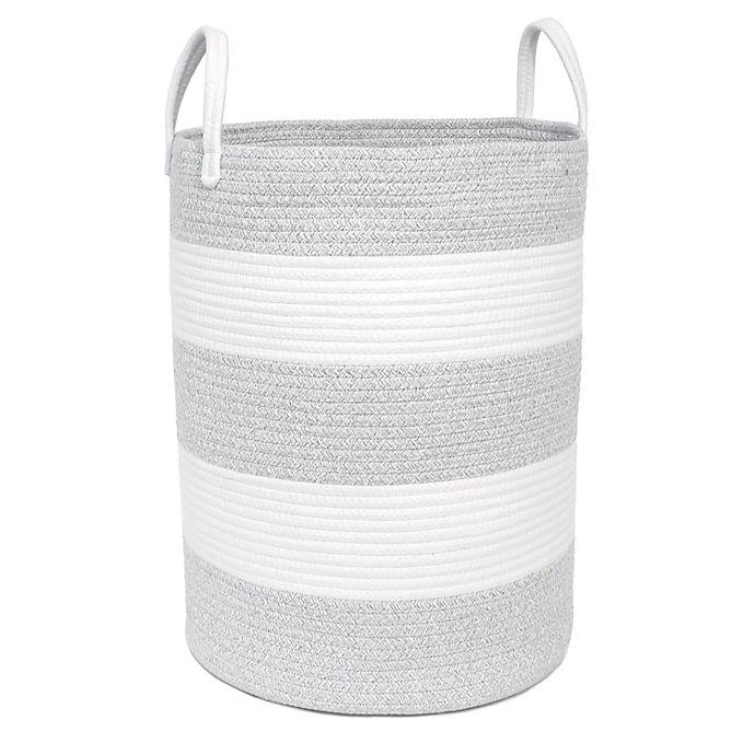 Alternate image 1 for Taylor Madison Designs® Round Rope Striped Hamper