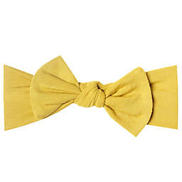 Copper Pearl Squirt Bow Headband in Yellow