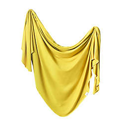 Copper Pearl Squirt Knit Swaddle Blanket in Yellow