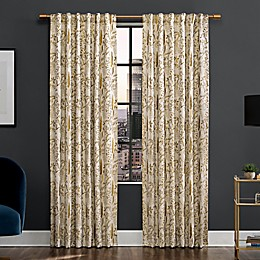 Scott Living™ Aubry Shimmering Floral Back Tab 100% Blackout Window Curtain Panel