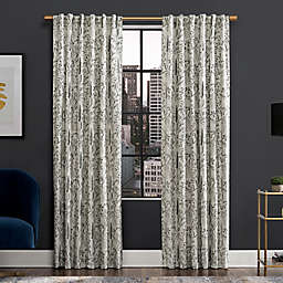 Scott Living™ Aubry Shimmering Floral 84-Inch Blackout Curtain Panel in Grey (Single)