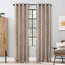 Scott Living™ Celina Organic Leaf 96-Inch Grommet Window Curtain Panel in Pecan (Single)