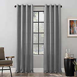 Scott Living Dari Heathered Texture Semi-Sheer 96-Inch Grommet Window Curtain Panel in Gray
