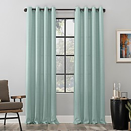 Scott Living Dari Heathered Texture Semi-Sheer Grommet Window Curtain Panel