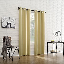 Sun Zero Cooper Thermal Insulated Room Darkening Grommet Window Curtain Panel