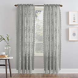 No. 918® Alison Floral Lace Rod Pocket Window Curtain Panel (Single)