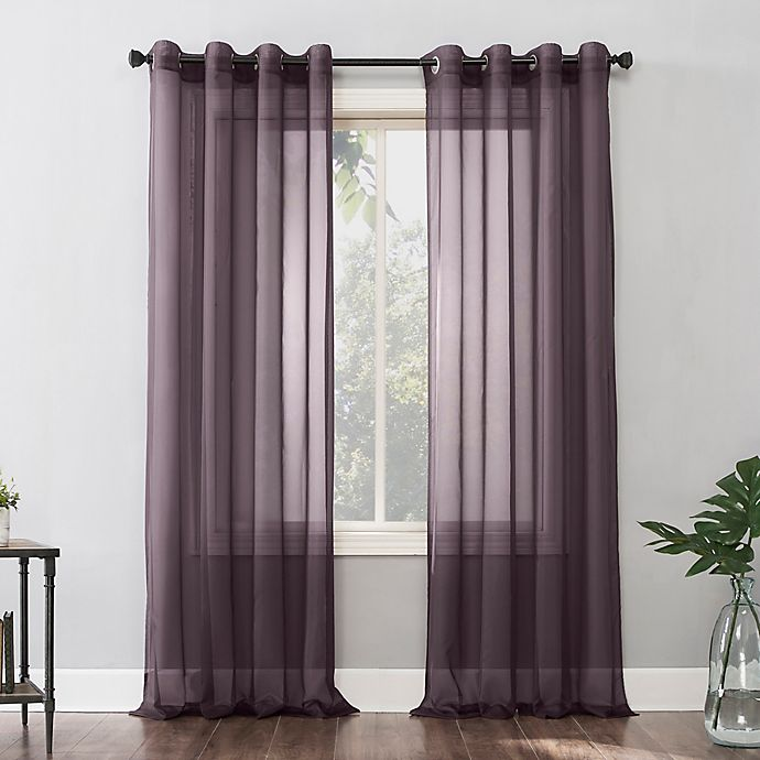Alternate image 1 for No.918® Emily Voile Grommet Window Curtain Panel (Single)